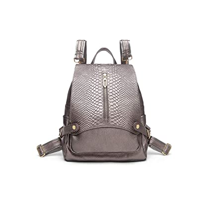 for Women /& Men Black//White//Champagne Cowhide ZHICHUANG Girls Multipurpose Backpack for Everyday Travel//Outdoor//Travel//School//Work//Fashion//Leisure