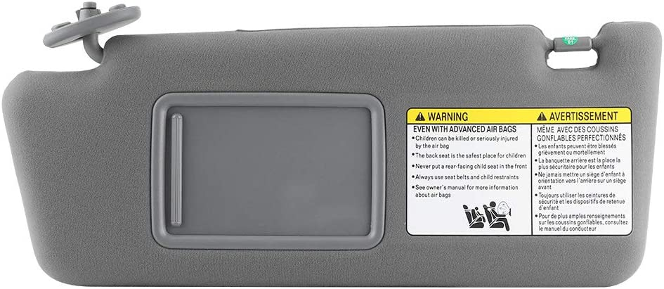 Driver Left Side Sun Visor Replacement 74320‑04180‑B1 Fit for Toyota Tacoma 2005‑2012 W//O Light Gray Car Windshield Sun Shade