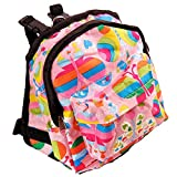OCSOSO Puppy Dog Backpack,Saddle Bags,Back Pack with Training Lead Leash (Pink butterfly, S)