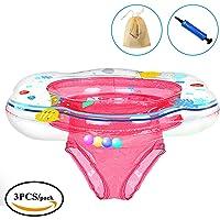 KimKo Salvagente Gonfiabile per Bambini, Baby Float Anello di Nuoto Giocattoli galleggianti da Piscina per Bambini (Rosa)