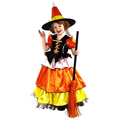 Amazon.com: Candy Corn Witch Kids Costume: Clothing