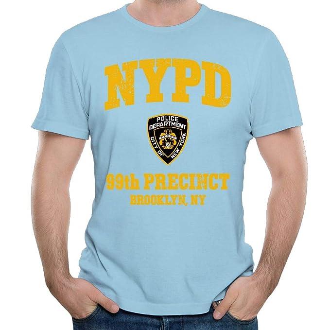 e0d31fca4 Stacy J. Payne Mens 99th Precinct - Brooklyn NY Classic Sports SkyBlue T  Shirts S