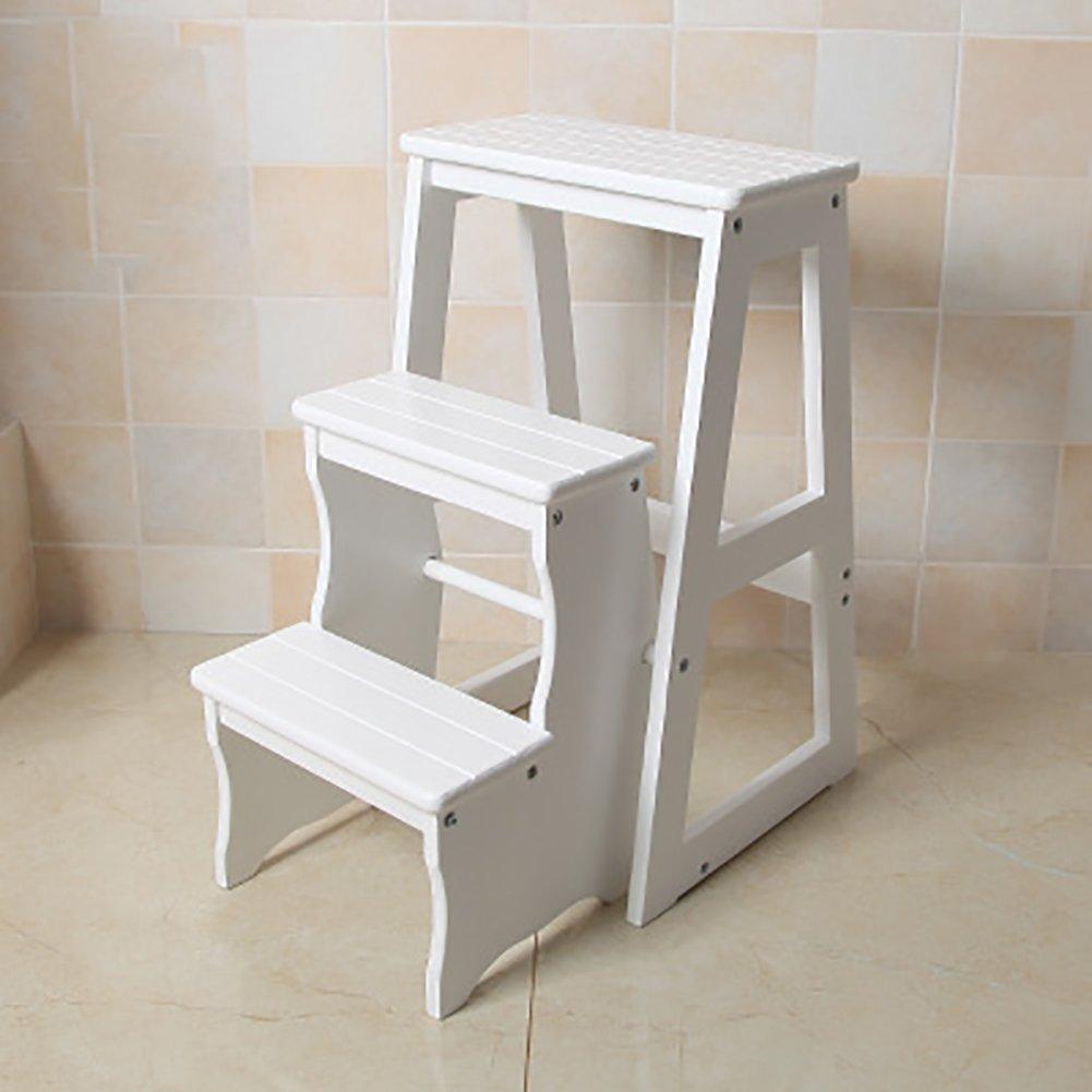 はしご便 キッチンステップスツールシートFoldableはしごの椅子多機能ポータブル家庭高木製ベンチ (色 : Light walnut) B07F3ZVBH2  Light walnut