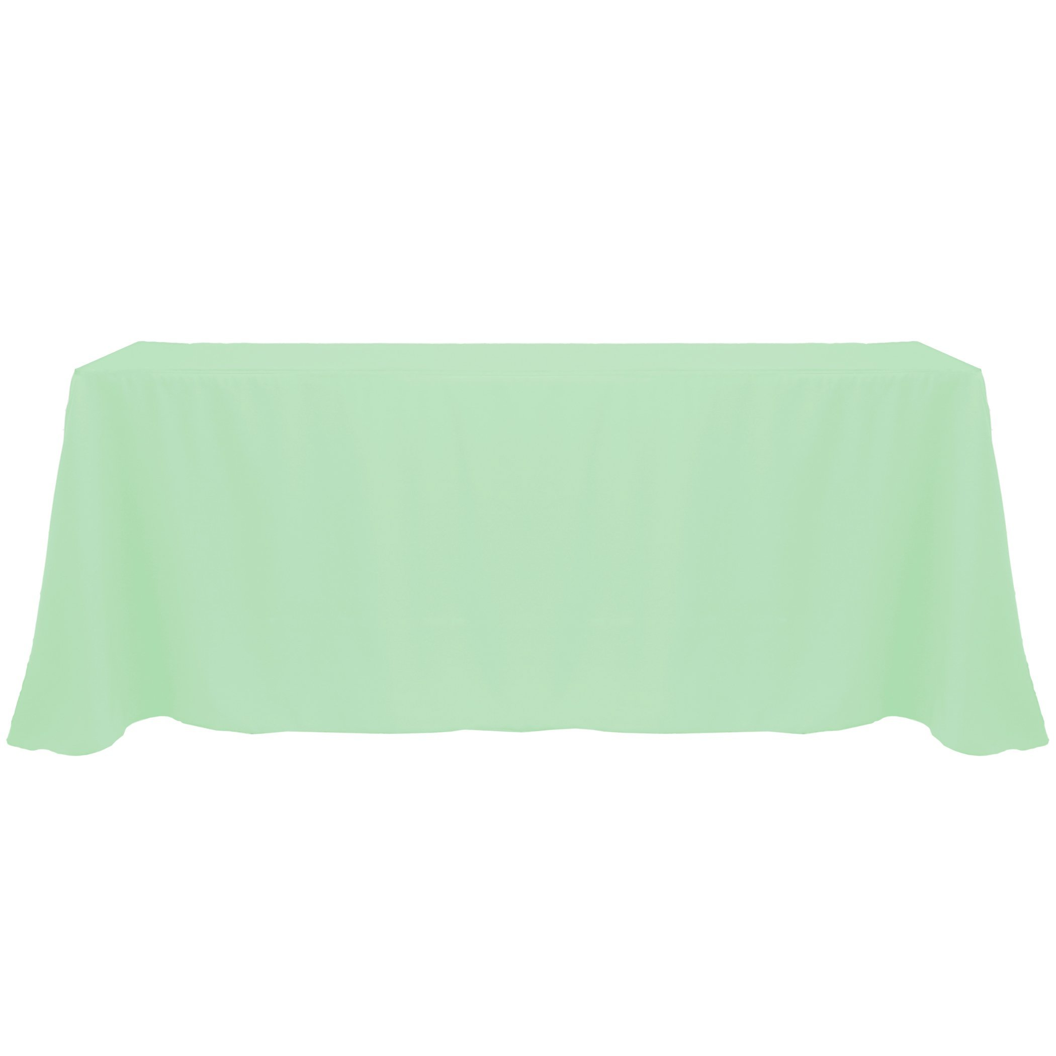 Ultimate Textile (20 Pack) 90 x 132-Inch Rectangular Polyester Linen Tablecloth with Rounded Corners - for Wedding, Restaurant or Banquet use, Mint Light Green