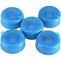 TOPINCN 5 Piezas de plástico Azul galón Botella de Agua Potable Rosca en la Tapa Tapas antisalpicaduras de Repuesto