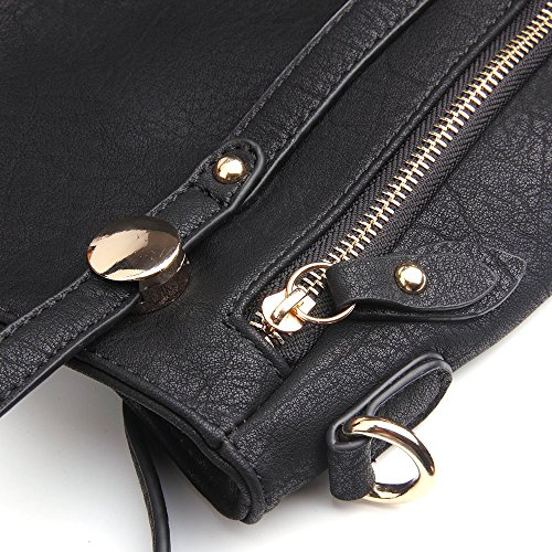 WISHESGEM Women Handbags PU Leather Tote Shoulder Bags Satchel Zipper Cross Body Bags