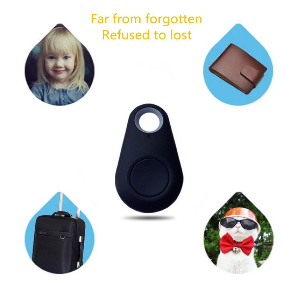 DILITEC 3pcs Smart Bluetooth Locator Tracker Anti-lost Alarm Finder Tag with Voice Recording Self-Portrait for Key Wallet Bag Phone -Random Color by DILITEC