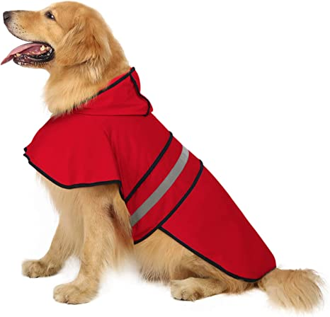 MyWheelieBin Dog Raincoat Small Dog Teddy Clothes Waterproof Poncho Bichon Frise All Inclusive XS Pink