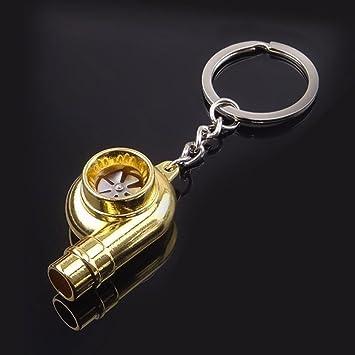 Llavero Metal turbina coche puerta llaves llave llavero Turbo Car Keys dorado: Amazon.es: Electrónica