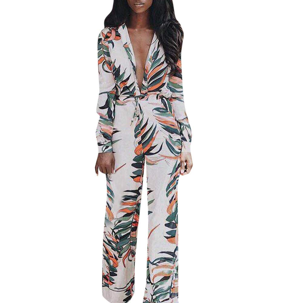 Jumpsuits for Women Solid V Neck Floral Leaf Long Pants Sparkly Capelet Clubwear Rompers Jumpsuit Bodysuit