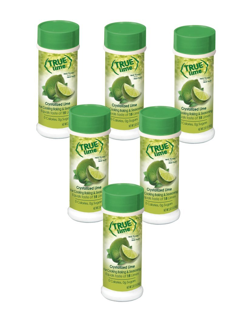 True Lime Crystallized Lime Shaker, 2.29 ounces (Pack of 6); For Cooking, Baking & Seasoning
