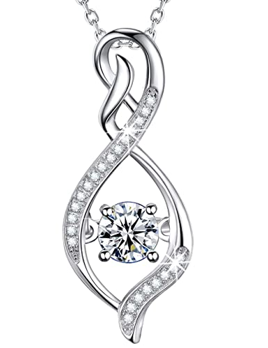 Together Forever Infinity Necklace 925 Sterling Silver Love Pendant Bride/'s Gift