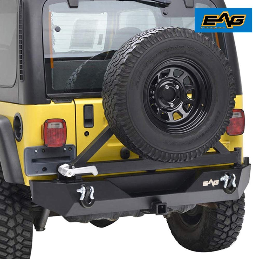 EAG License Plate Relocation Bracket for Rear Bumper W//Spare Tire Carrier