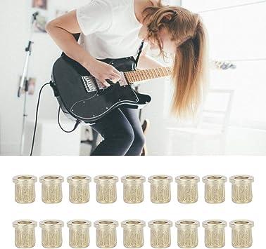 Bnineteenteam 18 Piezas de Guitarra de latón a través de férulas ...