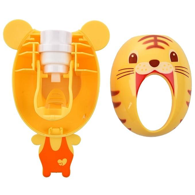 TOOGOO (R) dispensador de pasta de dientes automático niño Cepillo de dientes titular buena quality-tiger: Amazon.es: Hogar