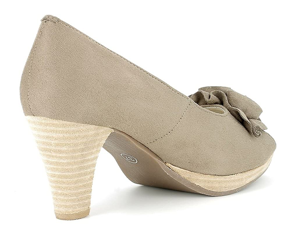 Andrea Conti Hirschkogel Hirschkogel Hirschkogel by Damen Peeptoes mit Blaume - Taupe Gr. 36 acbd86