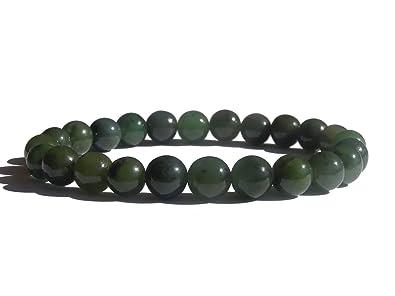 ZENstore - Bracelet en jade Lithothérapie 18 cm, Mixte, en gemmes, Vert f598681961f9