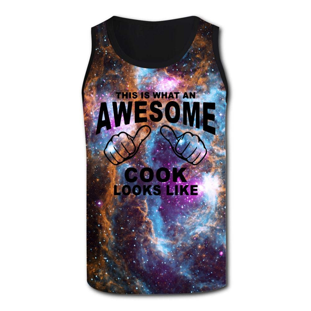Mens 3D Printed Tank Tops This is What an Awesome Cook Look Like Vest Sleeveless Casual Shirt