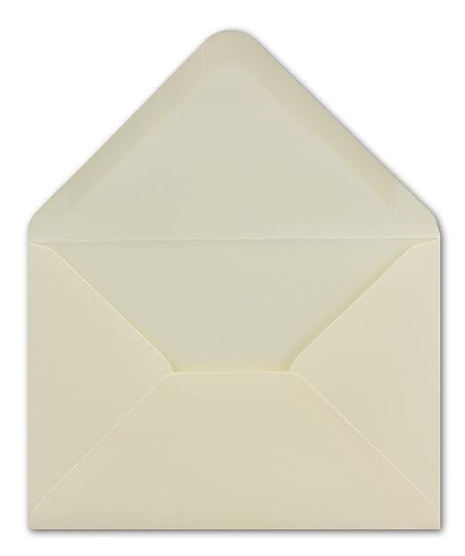 100 Din C6 Brief Umschläge Creme 114 X 162 Cm 100 Gm² Nassklebung