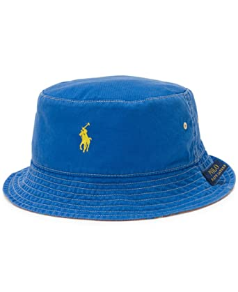 2966e938e07 Polo Ralph Lauren Men s Reversible Bucket Hat (Sapphire Star Yellow ...