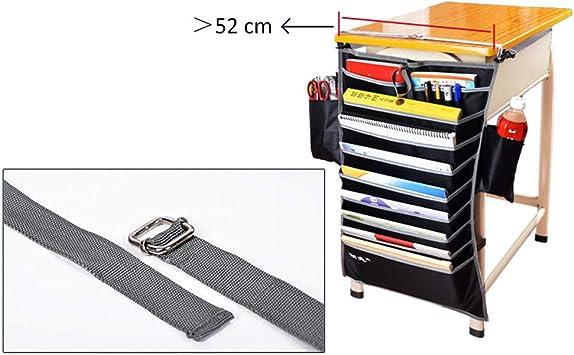 Versione Rinforzata, Rosy TOPBATHY Tasca Multifunzione da scrivania per Libri per Studenti Organizzatore Tasche portaoggetti Regolabili per camerette Ufficio Scolastico