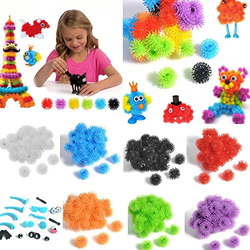 MAZIMARK-Kids Children Handmade Assembling Puzzle Bulk Puff Ball DIY Educational Toys YK
