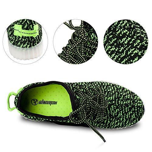 Zertifikat Sportschuhe 8 CE für LED LED Shinmax Turnschuhe Sport Damen Grün Erwachsene Leuchtend Unisex Schuhe Sneaker Herren Aufladen Farbe LED Schuhe USB 7 7B7gt