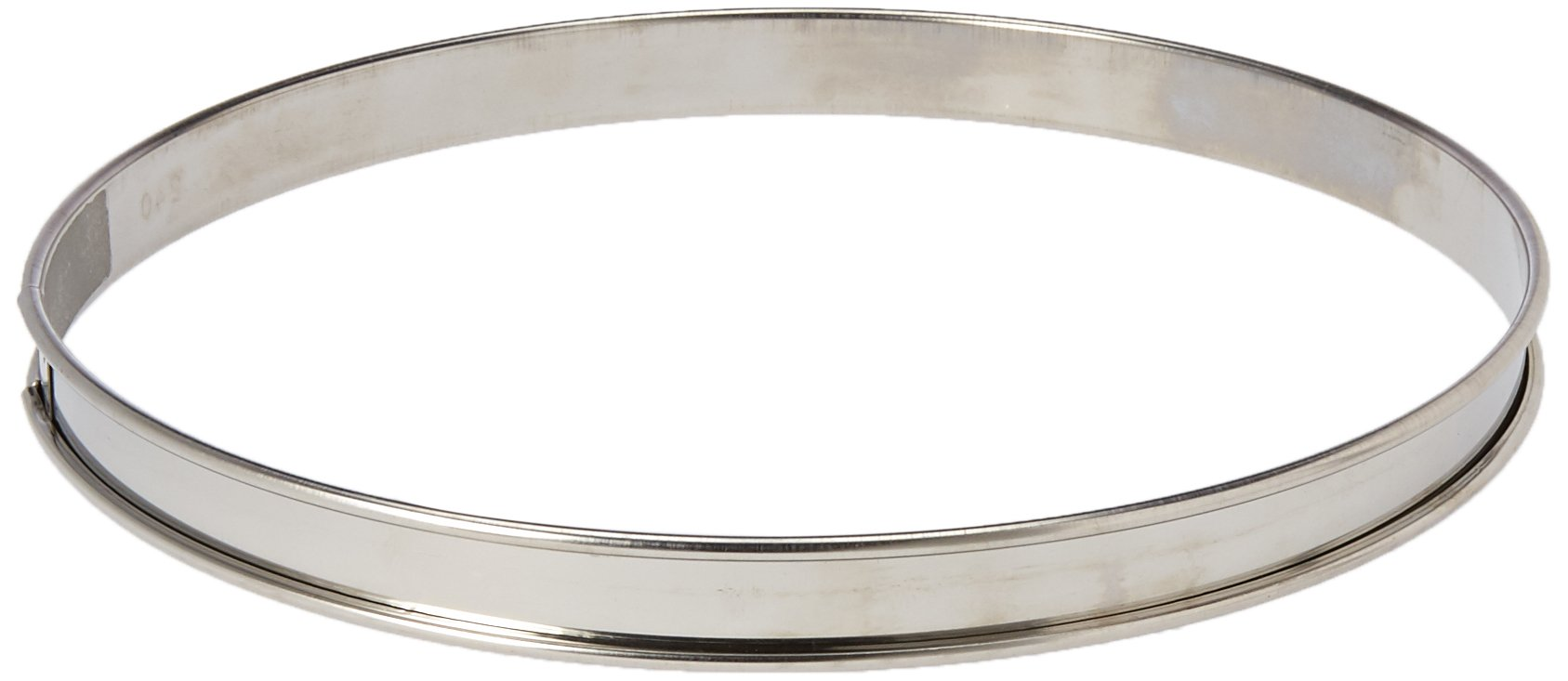 Matfer Bourgeat 371615 Plain Stainless Steel Tart Ring, 9.5'' Diameter