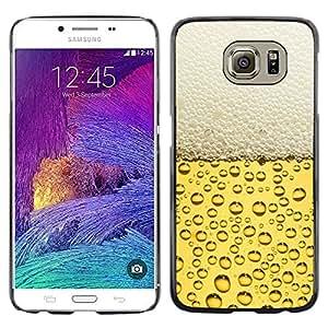 EJOY---Cubierta de la caja de protección la piel dura para el ** Samsung Galaxy S6 ** --Cerveza burbujas de espuma