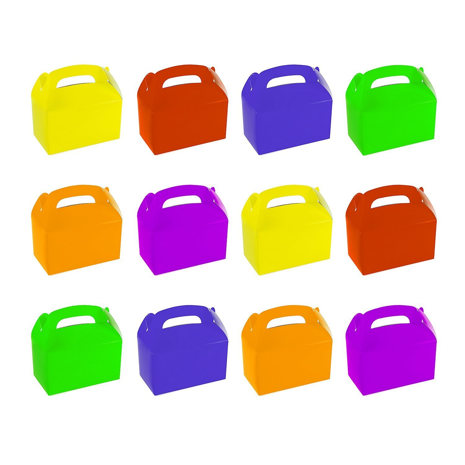 amazon com 12 assorted bright color treat boxes birthday party