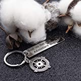 Inspirational Gift Keychain The Adventure Begins