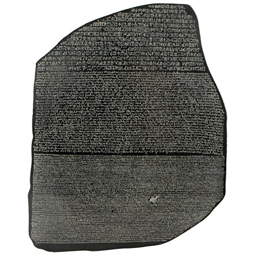 Ancient Egyptian Sculptures - Culture Spot Wall hanging a reproduction of the Rosetta Stone with Stone Finish | Ready to Hang | Wall Art Relief | Suitable for Indoor Use. | 14 Inches