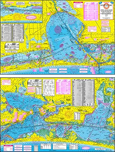 Topographical Fishing Map of Upper Laguna Madre - With GPS Hotspots -