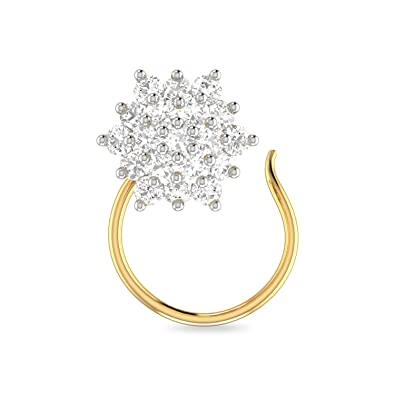 Buy Pc Jeweller The Beacan 22kt Yellow Gold Nosepin For Women At