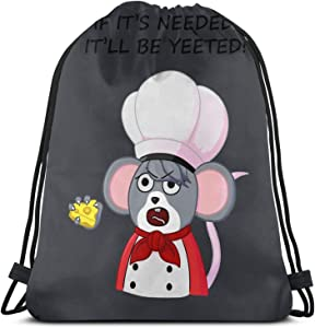 If It'S Needed, It'Ll Be Yeeted Pullover Sweat Drawstring Bag Sports ness Bag Travel Bag Gift Bag