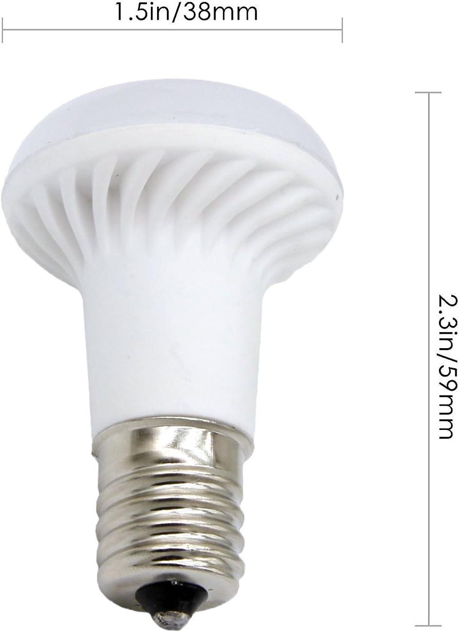 Ashialight E17 LED Bulb Daylight Intermediate Base 120 Volt Equivalent 25 Watt Reflector Bulb