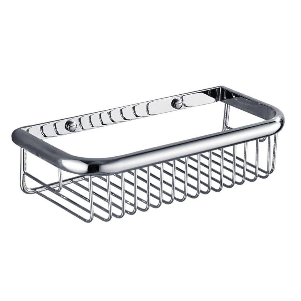Xuan worth having バスルームシングルレイヤースクエアバスケット銅浴室シェルフ壁掛け掘削設備 ( サイズ さいず : 45cm long ) B079DKFRFQ45cm long