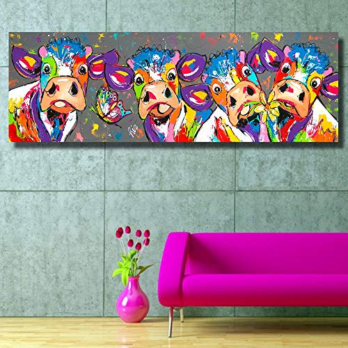 barn smile Cows Graffiti Canvas Prints-no Frame for Cow Lovers