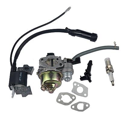 Amazon.com: HIPA carburador + Junta de montaje + Bobina de ...