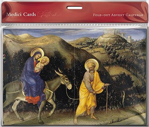 Fold Out Advent Calendar (MED0677) - The Flight into Egypt - Foil Finish The Great British Card Company