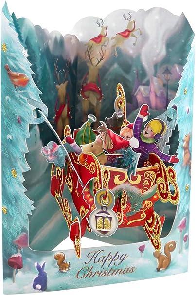 Santoro 3D Pop-Up Swing Card Baby Boy