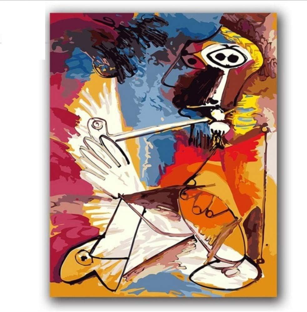 Bricolaje Pintura Al Óleo Por Números Pinturas De Picasso Cuadros De Música Abstracta Pinturas Por Números Con Un Paquete De Kits Para La Decoración De La Habitación De Hotel Sin Marco 40x50cm