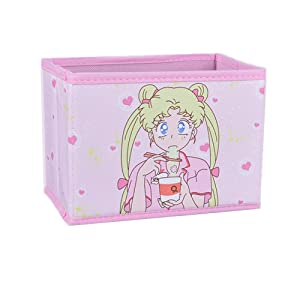 Cartoon Storage Box, Cute Japan Anime Sailor Moon Tsukino Usagi Model Figure Desktop Storage Box Case Makeup Holder Organizer for Kids Girls Gift (Eating)