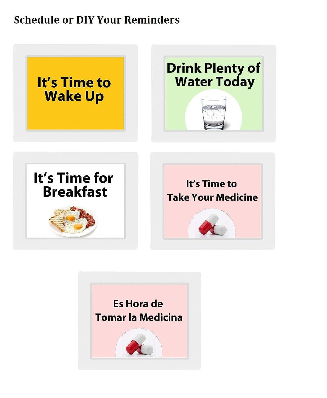 V/éfa/î/î Digitale Calendario Orologio Giorno Elettronico Tavolo Orologio Sveglia per la Perdita di Memoria Anziani Demenza Morbo di Alzheimer Disturbi della Vista Pazienti 10 Allarmi /…