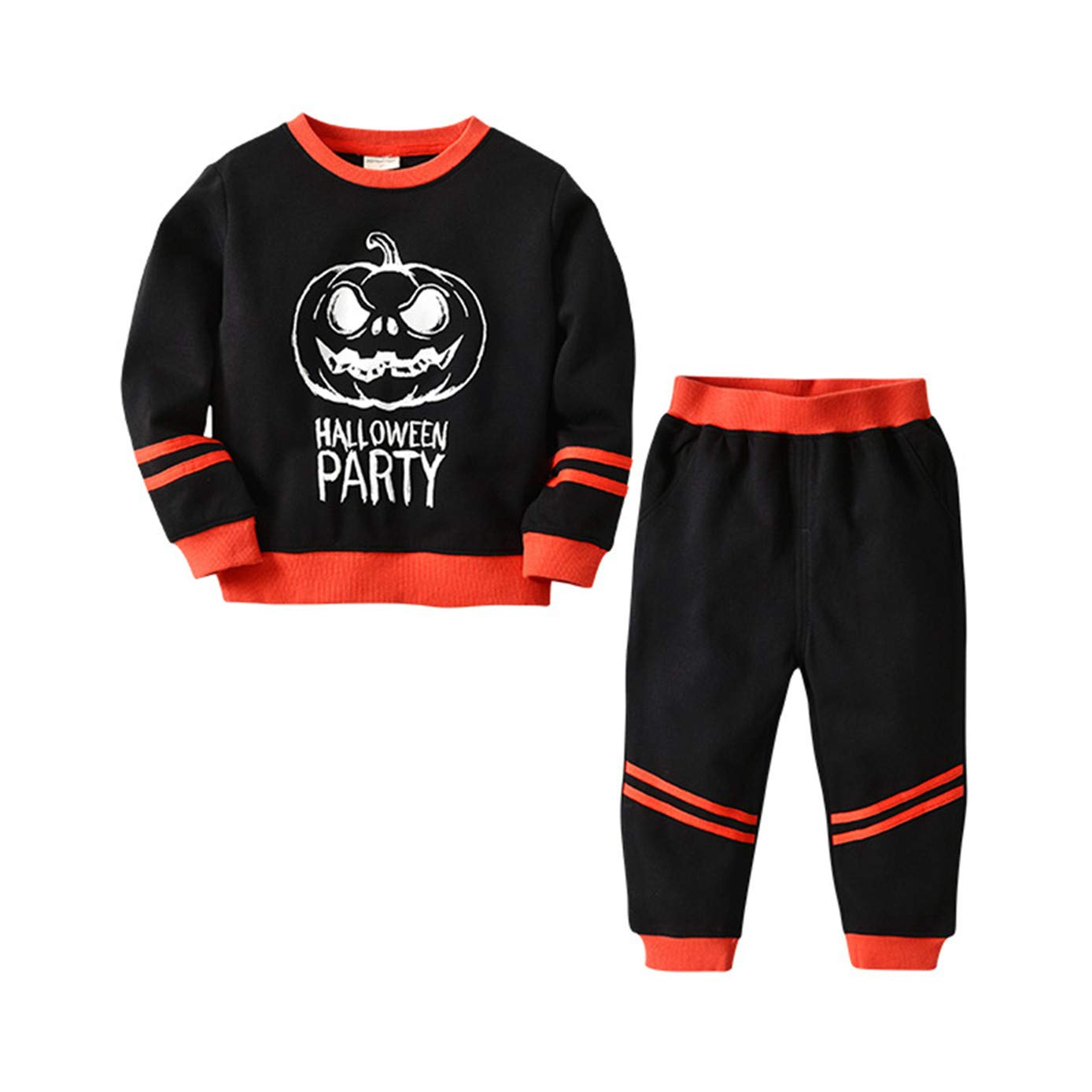 Toddler Baby Boy Girl Long Sleeve Cartoon Car Pirnt Cotton Clothing Set 1-5t Red