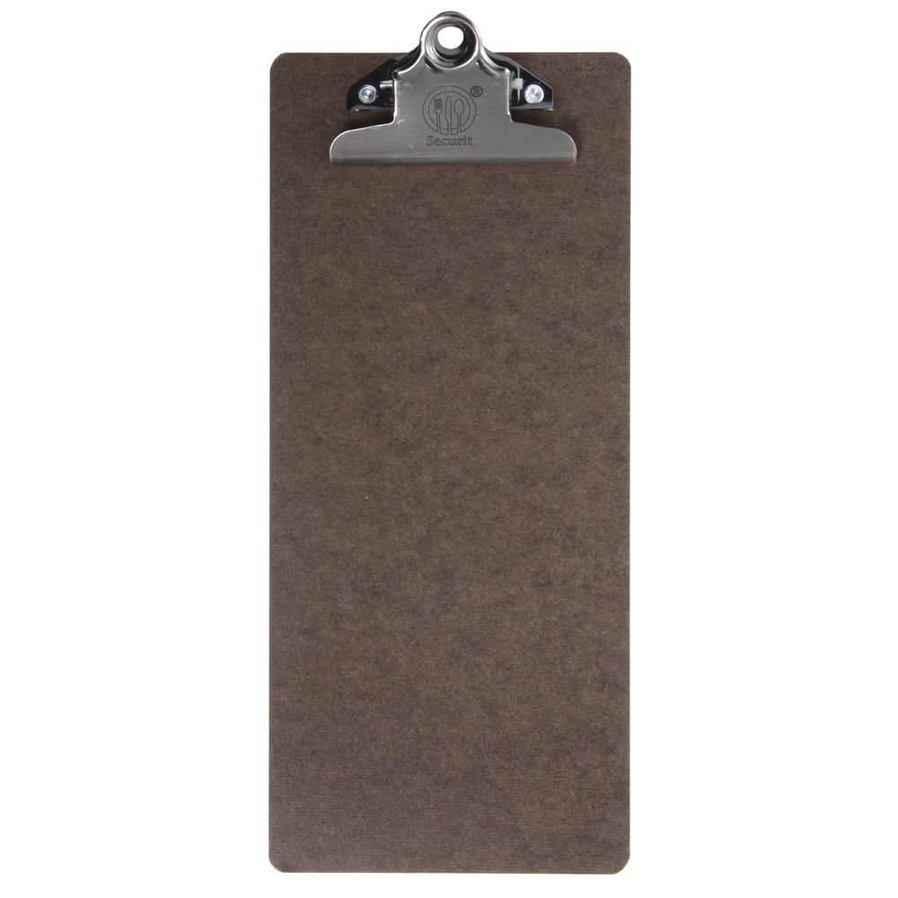Securit Brown Clipboard Bill Presenter - 4 1/2''L x 10 1/2''H