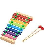 Youkara Tocando Madera Xilófono Juguete Educativo Para Niños Octava Tocar Piano Instrumento Musical Preescolar (Con