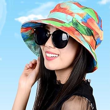 QIER-MZ Casquillo De Las Mujeres Casquillo Plegable Del Verano Del Resorte  Sombrero Ocasional Sombrero Del Lavabo Sombrero De Fisher Color C   Amazon.es  ... ae874e678b6