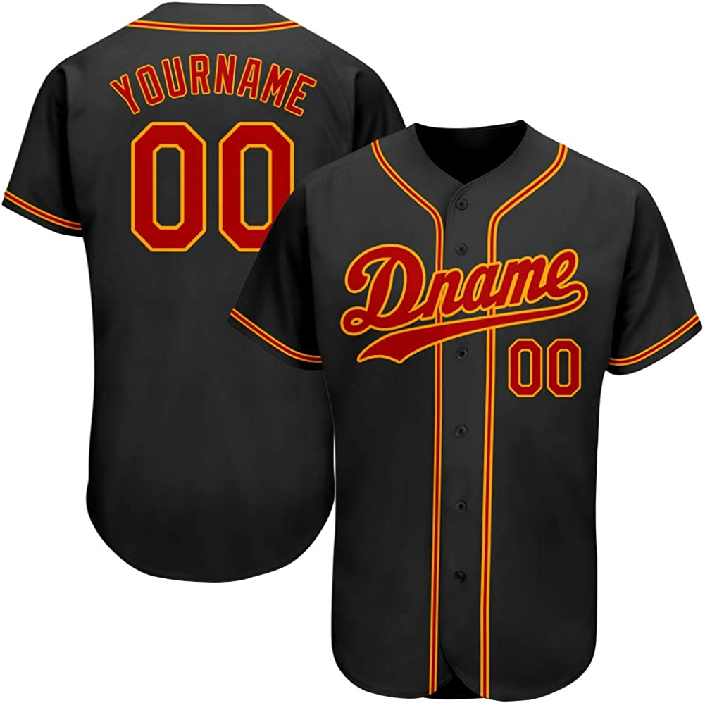 SNAPFITTG Custom Baseball Jersey for Men&Women&Youth, Personalized Baseball Stitched or Printed Jersey with Name and Number