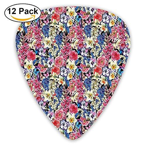 - Newfood Ss Vintage Bouquet Corsage Willow Lilies Hyacinths Muscari Botanical BridaL Guitar Picks 12/Pack Set